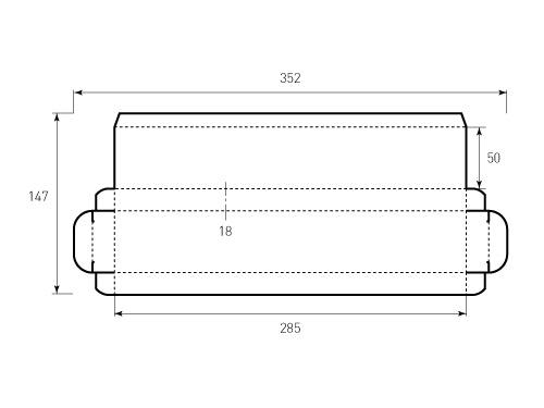 Коробка из однослойного картона 285x50x18. Превью 500x375