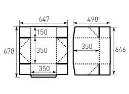 Коробка из однослойного картона 350x350x150
