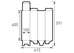 Коробка из однослойного картона 400x100x100