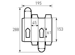 Коробка из однослойного картона 45x45x153 мм, для Масла