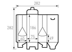 Коробка из однослойного картона 75x60x186 мм, Индола