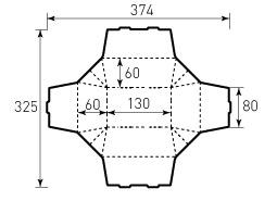 Коробка из однослойного картона 80x130x60 мм
