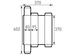 Коробка из однослойного картона 83x95x370 мм, для визиток