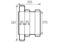 Коробка из однослойного картона 85x85x375 мм