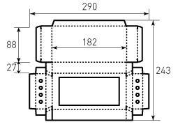 Коробка из однослойного картона 88x180x27 мм, для карандашей