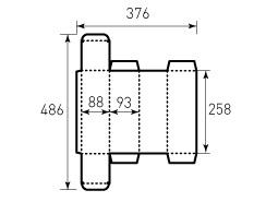 Коробка из однослойного картона 88x93x258 мм