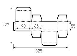 Коробка из однослойного картона 90x55x65 мм, для пирожка