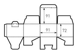 Коробка из однослойного картона 91x92x72, нельма