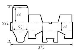 Коробка из однослойного картона 93x88x53