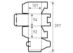 Коробка из однослойного картона 93x95x101, Ричмонд, 3 штуки