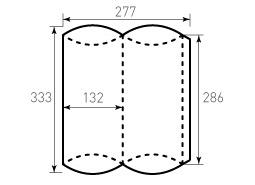 Коробка из однослойного картона 135x135x80, для пирожка