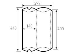 Упаковка из однослойного картона 140x400 мм, для пирожка