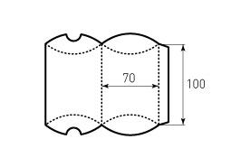 Коробка из однослойного картона 70x100 мм, для пирожка