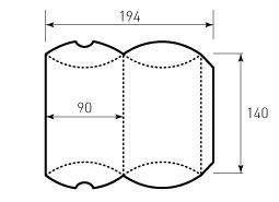 Коробка из однослойного картона 90x140 мм, для пирожка