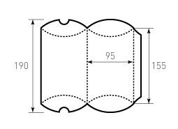 Коробка из однослойного картона 95x155, Для пирожка