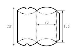 Коробка из однослойного картона 95x156, Для пирожка