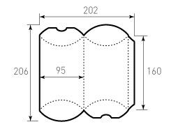 Коробка из однослойного картона 95x160, Для пирожка