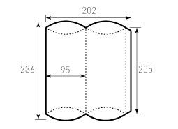 Коробка из однослойного картона 95x205, Для пирожка