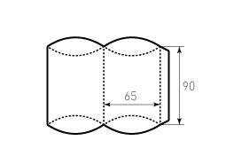 Коробка из однослойного картона 65x90 мм, для пирожка