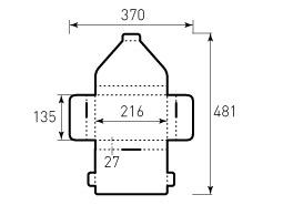 Коробка из двухслойного картона 216x135x27