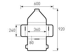 Коробка из двухслойного картона 360x240x80