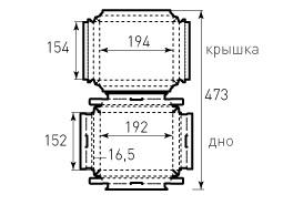 Коробка крышка дно 186x146x16 версия 2