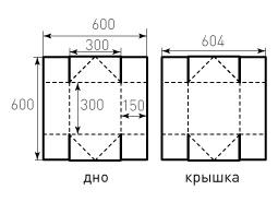 Коробка крышка дно 300x300x150