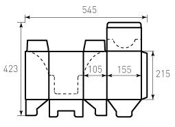 Коробка из гофрокартона 105x155x215