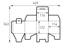 Коробка из гофрокартона 114x114x122
