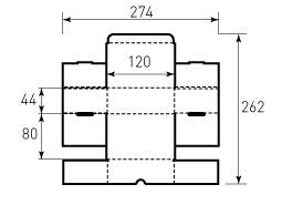 Коробка из гофрокартона 120x80x44