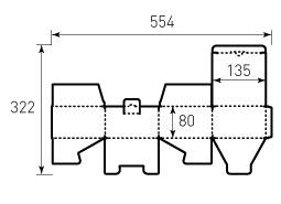 Коробка из гофрокартона 135x135x80 Спининг