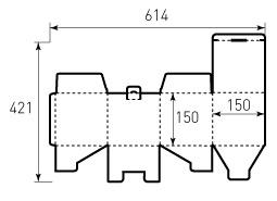 Коробка из гофрокартона 150x150x150