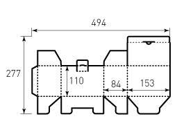 Коробка из гофрокартона 153x84x110