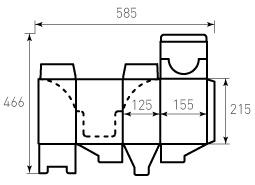 Коробка из гофрокартона 155x125x215 Братц