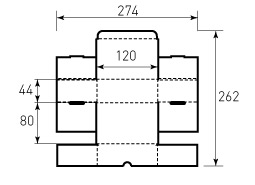 Коробка из гофрокартона 155x155x215