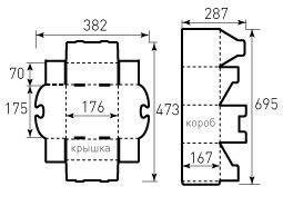 Коробка из гофрокартона 170x170x170