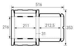 Коробка из гофрокартона 210x215x30