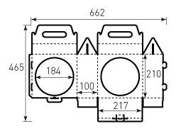 Коробка из гофрокартона 217x210x100 для Мяча