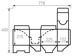 Коробка из гофрокартона 225x152x215
