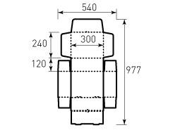 Коробка из гофрокартона 300x240x120, цельнокроенная