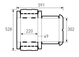 Коробка из гофрокартона 302x220x49