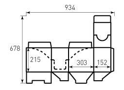 Коробка из гофрокартона 303x152x215 Запф