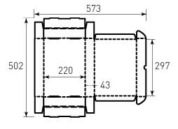 Коробка из гофрокартона 305x220x43