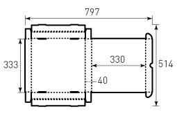 Коробка из гофрокартона 330x330x40
