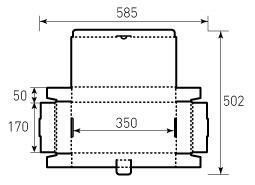 Коробка из гофрокартона 350x170x50