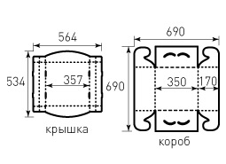 Коробка из гофрокартона 350x350x170 Торт