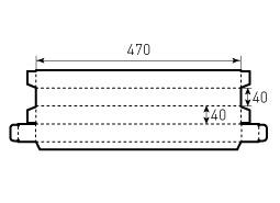 Коробка из гофрокартона 40x40x470