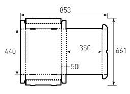 Коробка из гофрокартона 440x350x50