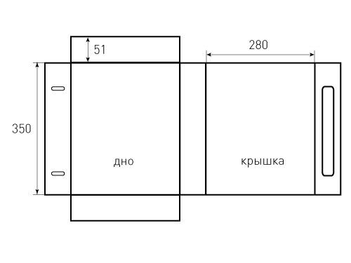Коробка на магнитах 280x350x51. 500x375 пикселов