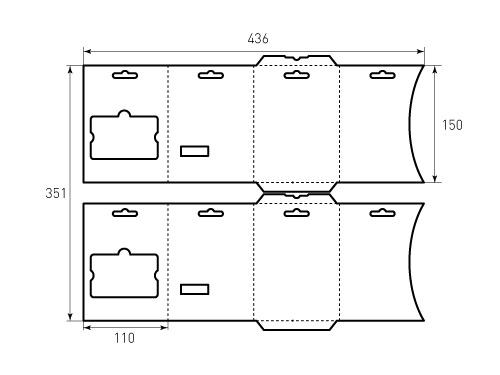 Штамп для Холдер 110x150 3F. Привью 500x375 пикселов